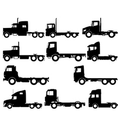 Truck silhouettes vector