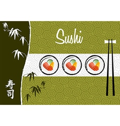Sushi banner background vector