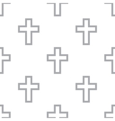 New protestant cross seamless pattern vector