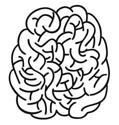 Doodle human brain outline design vector
