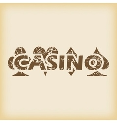 Grungy casino icon vector