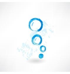 Bubbles grunge icon vector