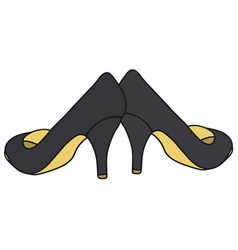 Black pumps vector