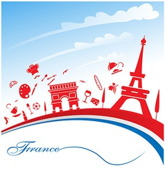 France background with flag vector