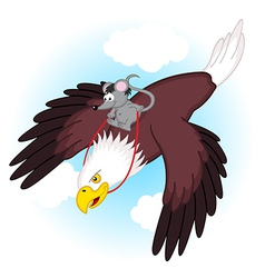 Mouse riding on eagle vector