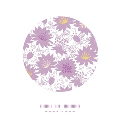 Purple shadow florals circle decor pattern vector