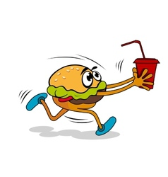 Hamburger with juice vector