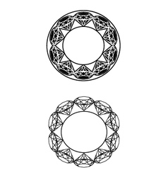 Circle-diamondz-decor vector
