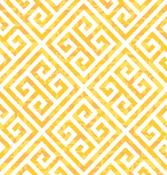 Seamless gold greek key background pattern vector