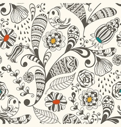 Spring seamless wallpaper spring floral pattern vector