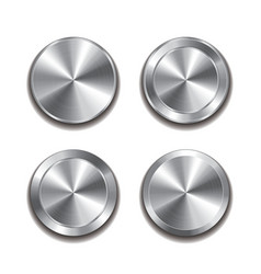 Metal button isolated set vector