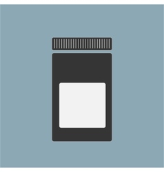 Blank medicine bottle isolated on background vector