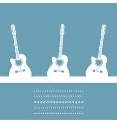 Three guitars vector
