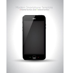 Ultra realistic modern touch smartphone template vector