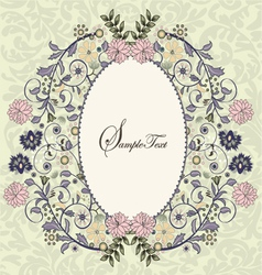Ornate frame with floral elements vector
