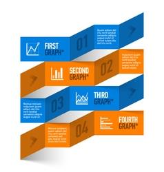 Stock chart theme modern infographics vector