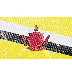 Flag of brunei with old texture vector