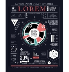 Retro infographic information graphics vector