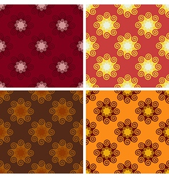 Seamless geometrical wave pattern set vector
