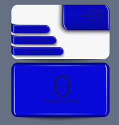 Business card with blue plastic elements vector