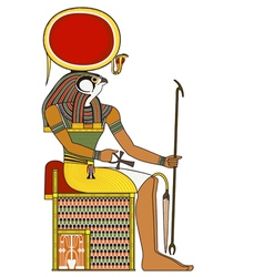 Horus isolated figure of ancient egypt god vector