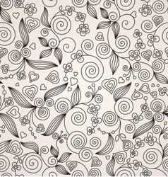 Decorative flower seamless background vector