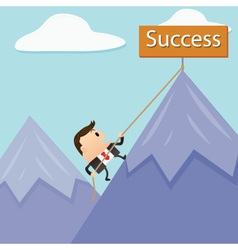 Business mountain success vector