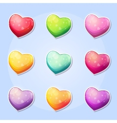 Set of hearts for a computer game valentines day vector
