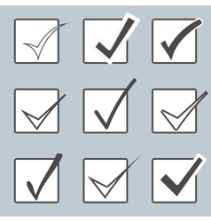 Confirm icons set yes icon check mark vector