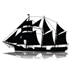 A large sailing ship vector