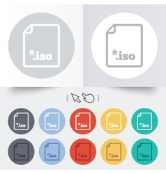 File iso icon download virtual drive file vector