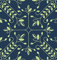 Elegant floral lineart pattern with leafs vector
