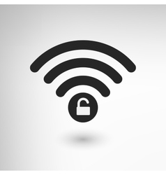 Creative wifi locked vector