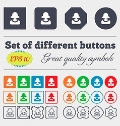 Female silhouette icon sign big set of colorful vector