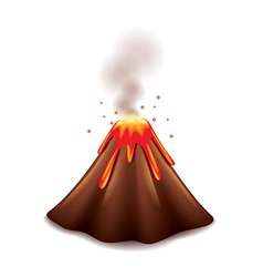 Volcano isolated vector