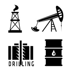 Oil industry design template vector