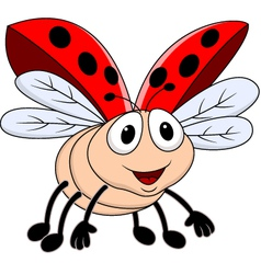 Funny lady bug vector