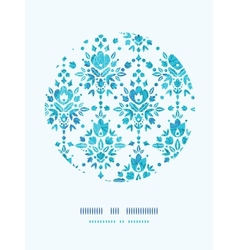 Abstract flower damask circle decor pattern vector