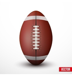 American football ball isolated on a white vector