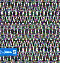 Abstract hexagon dots background vector
