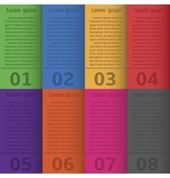 Infographic colorful brochures vector