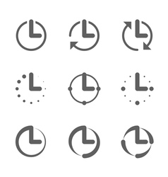 Clock time icons vector