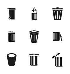 Trash icon set vector