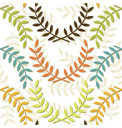 Beige branch patterns vector