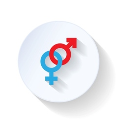 Male and female flat icon vector