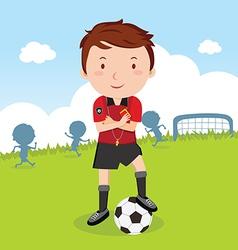 Umpire soccer vector