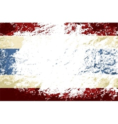 Thai flag grunge background vector