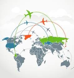 Abstract communication scheme of foreign flights vector