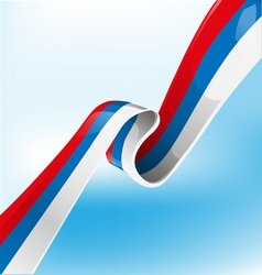 Russian ribbon flag vector