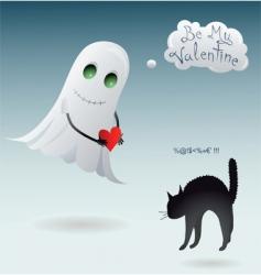 Scary valentine vector